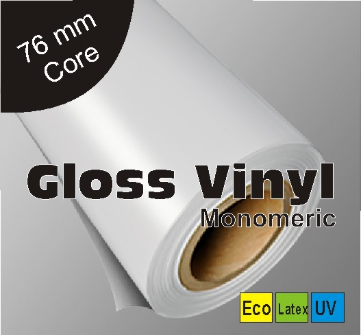 photograph regarding Printable Vinyl Roll identified as Gloss Vinyl (100 micron) - for each day total signage dimensions: 1370mm x 50m rolls