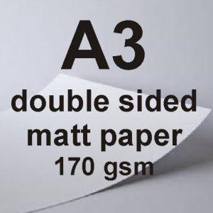 A3 Double Sided Matt Paper 170gsm