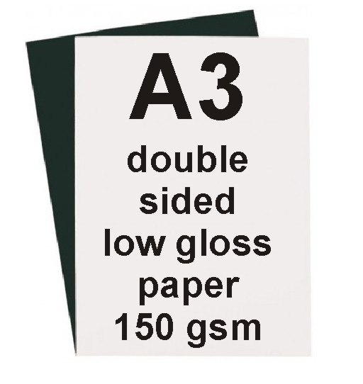 A3 Low Gloss Double Sided Paper