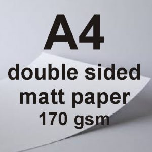 A4 Double Sided Matt Laser Paper 170gsm
