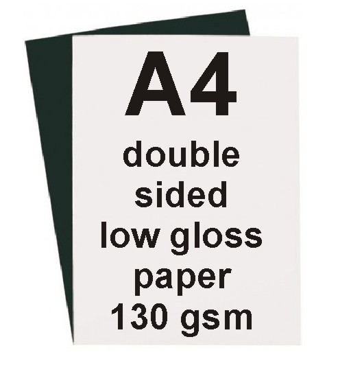 A4 Low Gloss Double Sided Laser Paper 130gsm