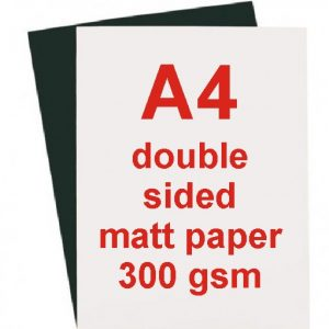 A4 Matt White Double Sided Laser Paper 300 gsm