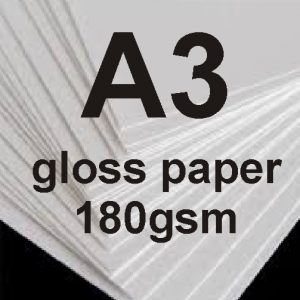A3 Photo Quality Glossy Paper 180gsm