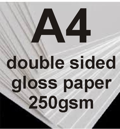 A4 Double sided gloss Photo paper-250g