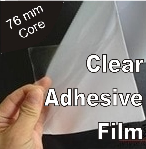 image relating to Clear Printable Vinyl titled Distinct Vinyl intended for Eco-solvent, Solvent, Latex and UV inkjet printing - dimension: 1370mm x 50m roll