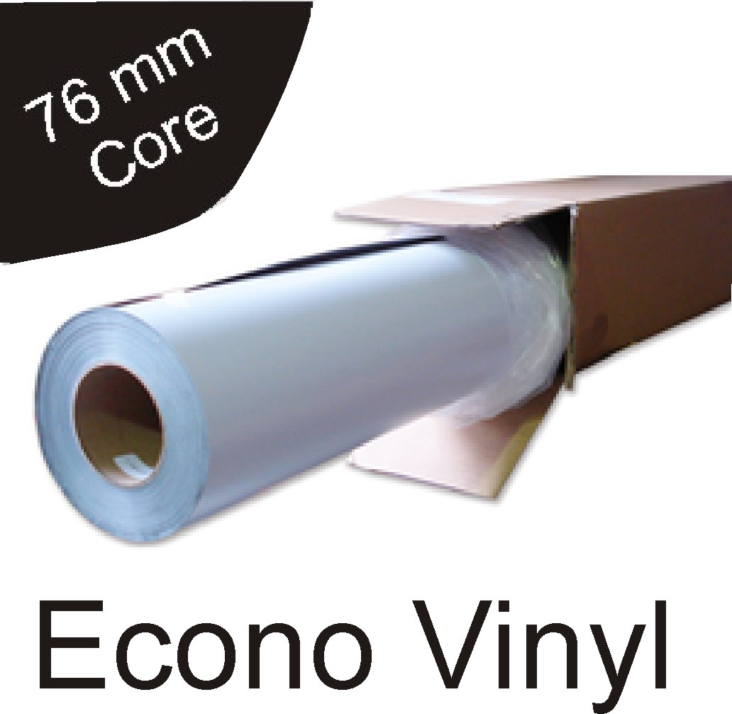 graphic regarding Inkjet Printable Vinyl Roll identify Finances Vinyl - 80 micron for Eco-solvent, Solvent and Latex inkjet printing - dimension: 1370mm x 50m roll