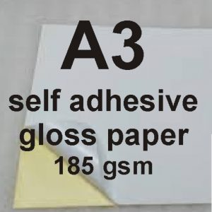 A3 Self Adhesive Glossy Paper 185gsm