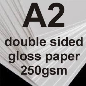 A2 Double sided gloss Photo paper-250g
