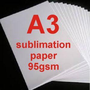 A3 Dye Sublimation Paper 95g