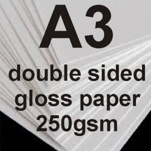 A3 Double sided gloss Photo paper-250g