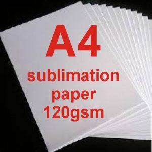 A4 Dye Sublimation Paper 120g