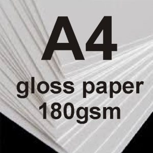 A4 Photo Quality Glossy Paper 180gsm