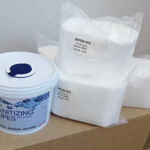 Sanitizing wipes kit